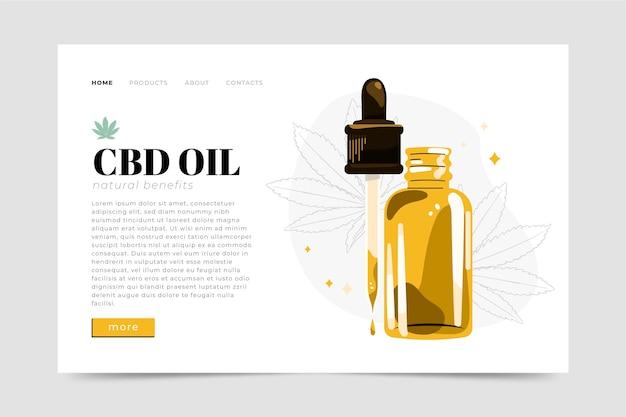 Modèle web d'huile de cannabis illustré