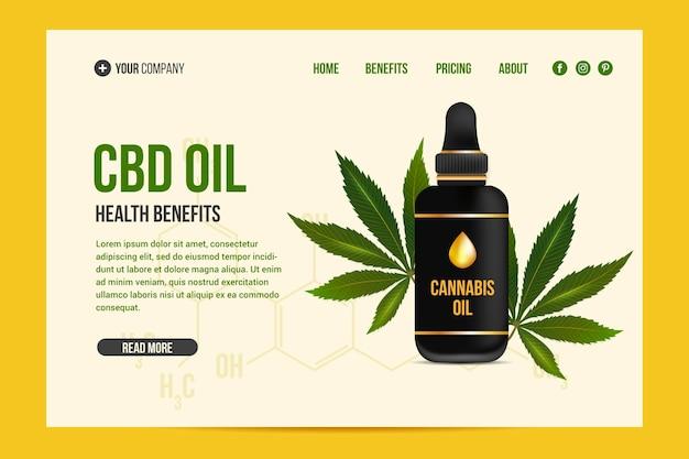 Modèle web d'huile de cannabis