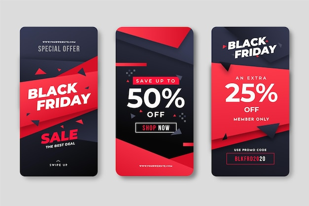 Modèle web instagram black friday