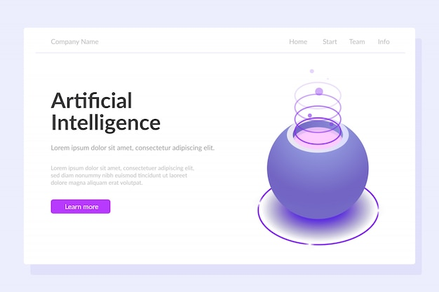 Modèle web d'intelligence artificielle