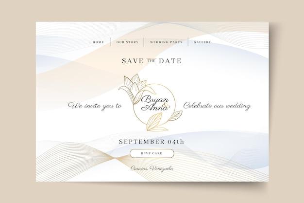 Modèle web de mariage minimal