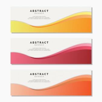 Modèle web moderne de vecteur abstrait bannière
