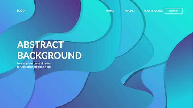 Modèle web de page de destination avec un design abstrait moderne dynamique pour sites web