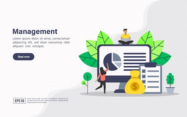 Modèle web de page de destination de gestion