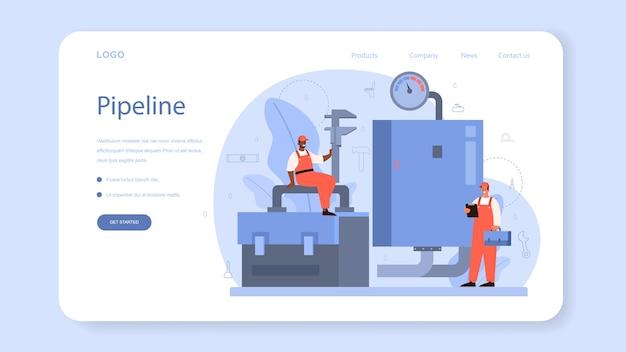 Modèle web ou page de destination de plombier.