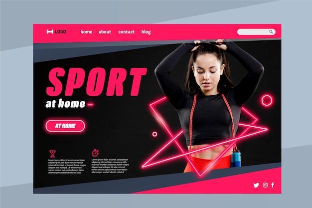 Modèle web de page de destination de sport