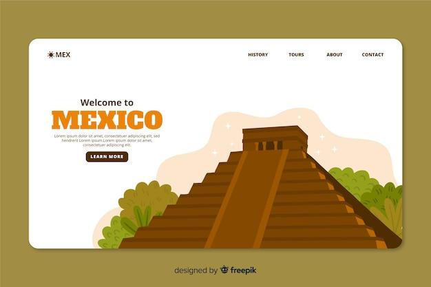 Modèle web de page de renvoi corporative pour une agence de voyages au mexique