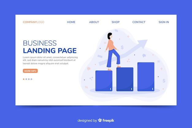 Modèle web de page de renvoi corporative pour les agences de marketing