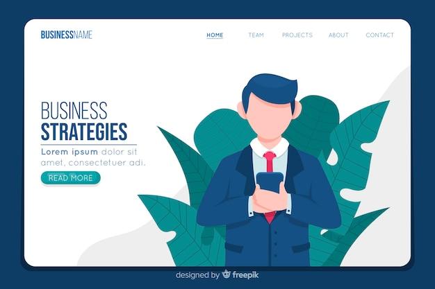Modèle web de page de renvoi d'entreprise