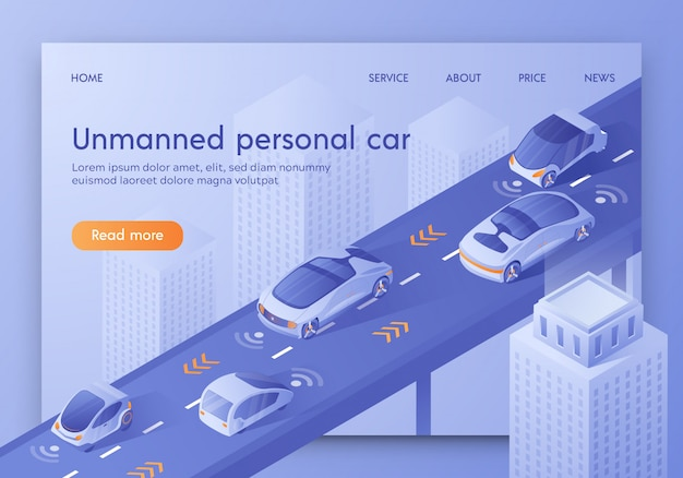 Modèle web de page de renvoi pour future technology