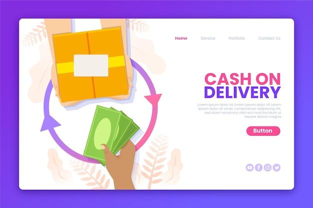 Modèle web de paiement plat à la livraison