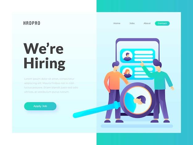 Modèle web de recherche d'emploi