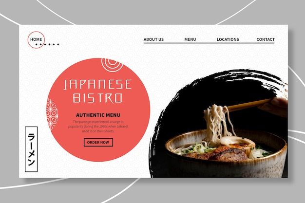 Modèle Web De Restaurant Japonais Vecteur gratuit