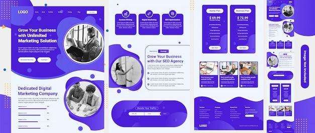 Modèle web de services de référencement et de marketing