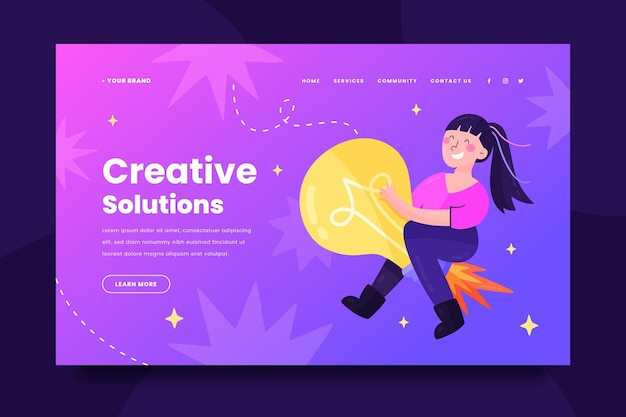 Modèle web de solutions créatives
