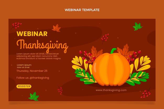 Modèle de webinaire plat pour thanksgiving