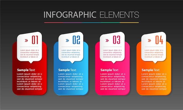 Modèle de zone de texte, bannière infographie