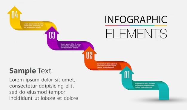 Modèle de zone de texte flèche, bannière infographie, calendrier