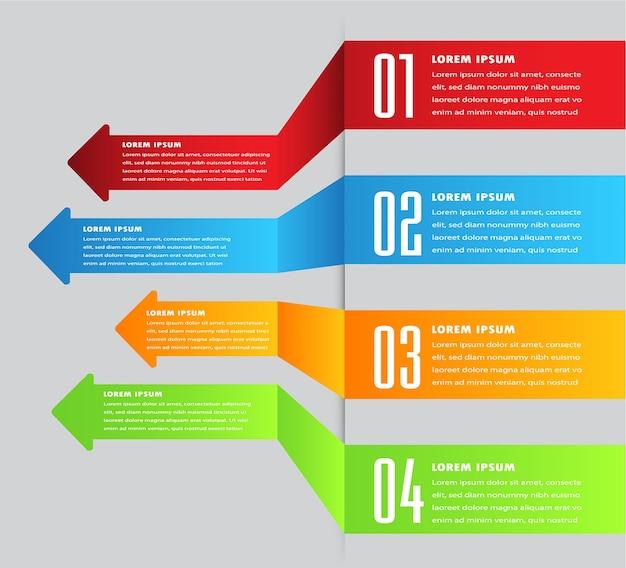 Modèle de zone de texte flèche, bannière infographie