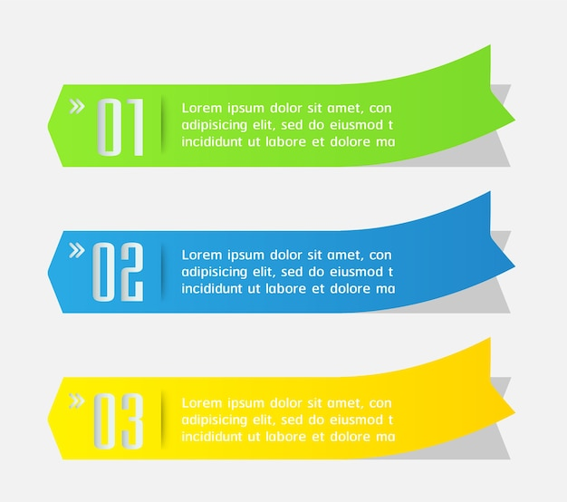 Modèle de zone de texte flèche moderne, bannière infographie