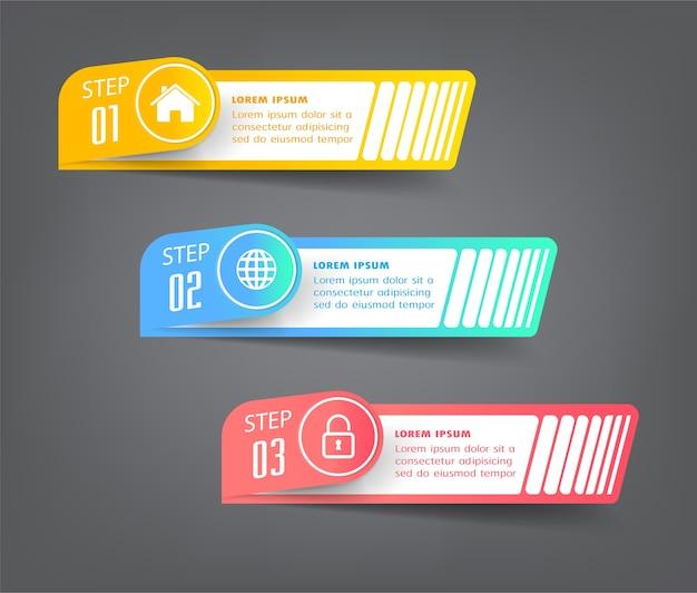 Modèle de zone de texte moderne, bannière infographie
