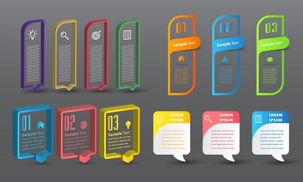 Modèle De Zone De Texte Moderne, Bannière Infographie Vecteur Premium