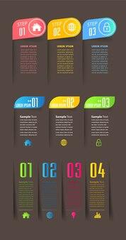 Modèle de zone de texte moderne, infographie