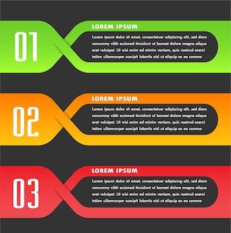 Modèle de zone de texte papier, bannière infographie