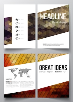 Modèles a4 pour brochure avec arrière-plans polygonaux