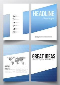 Modèles d'affaires pour brochure avec des arrière-plans polygonaux
