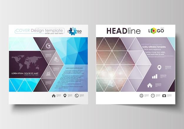 Modèles d'affaires pour la brochure de conception carrée