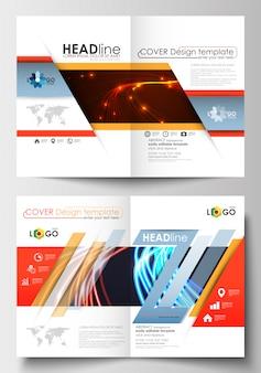 Modèles d'affaires pour brochure, dépliant, livret.