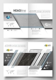 Modèles d'affaires pour brochure, dépliant. modèle de conception de la couverture