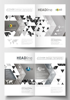 Modèles d'affaires pour brochure, magazine, flyer, brochure, rapport. modèle de couverture