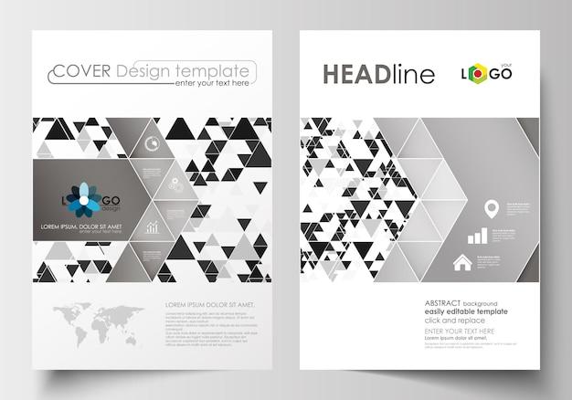 Modèles d'affaires pour brochure, magazine, flyer, livret.