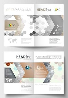 Modèles d'affaires pour brochure, magazine, flyer, livret