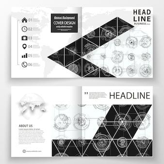 Modèles d'affaires pour la brochure de pli carré bi