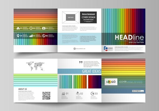 Modèles d'affaires pour les brochures triples carrés