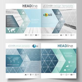 Modèles d'affaires pour la conception carrée brochure, dépliant, rapport