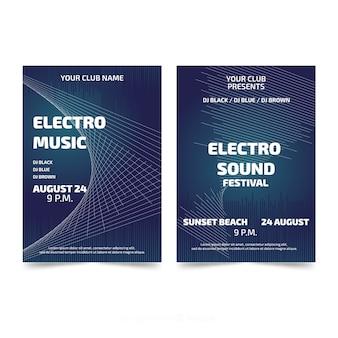 Modèles d'affiches de festival de musique abstraite