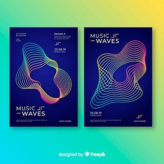 Modèles d'affiches de musique