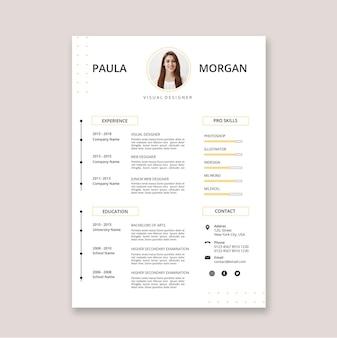Modèles d'application de style minimaliste