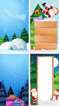 Modèles d'arrière-plan avec le thème de noël