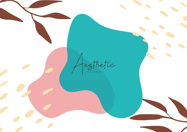 Modèles d'art abstrait avec des éléments floraux et géométriques. fond organique. convient aux publications sur les réseaux sociaux, aux applications mobiles, à la conception de bannières et au web, aux publicités internet. arrière-plans de mode de vecteur