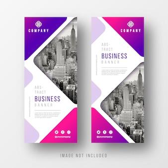 Modèles de bannière d'affaires abstraites