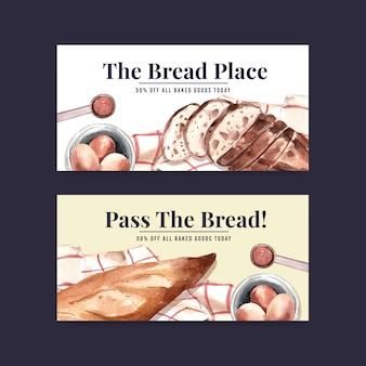 Modèles de bannière de boulangerie