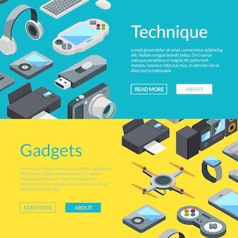 Modèles de bannière isométrique gadgetsweb