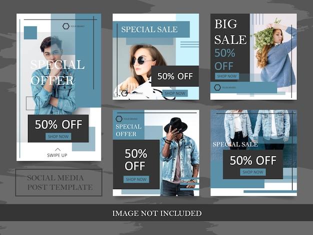 Modèles de bannière de mode pour publication sur les médias sociaux