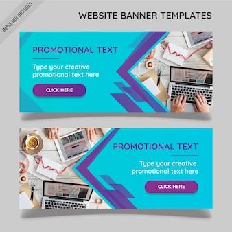 Modèles de bannière de site web abstraites