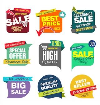Modèles de bannière de vente
